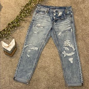 American Eagle high rise Tom girl jeans size 10R
